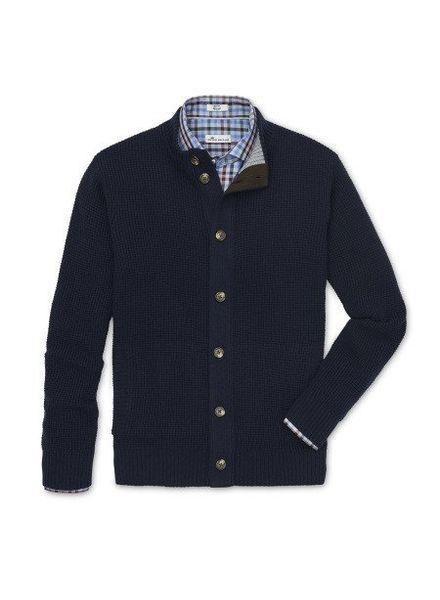 Peter Millar Peter Millar Full Button-Down Cardigan Sweater - Navy