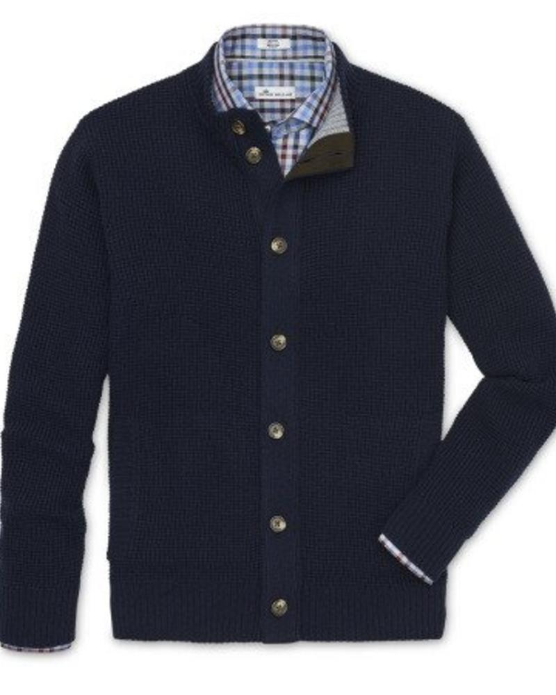 Peter Millar Peter Millar Full Button-Down Cardigan Sweater - Navy