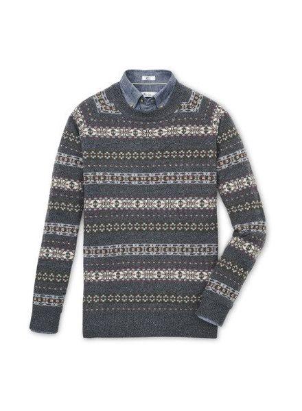 Peter Millar Peter Millar Mountainside Fair Isle Crewneck Sweater - Thunder