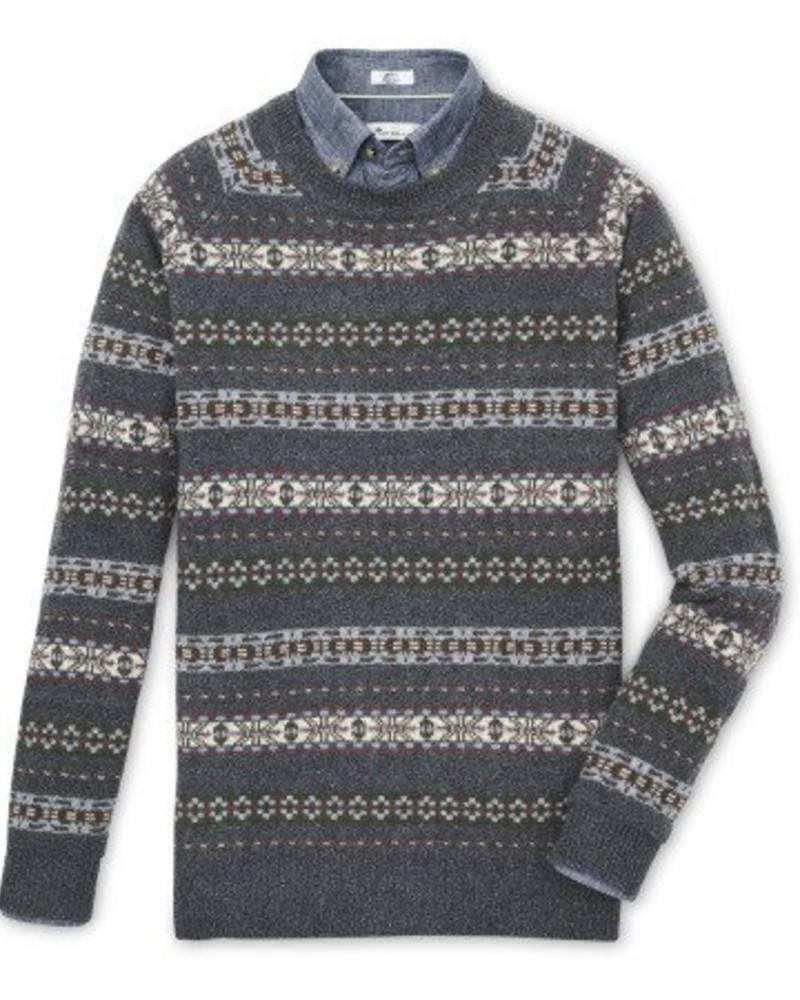 Peter Millar Peter Millar Mountainside Fair Isle Crewneck Sweater - Thunder