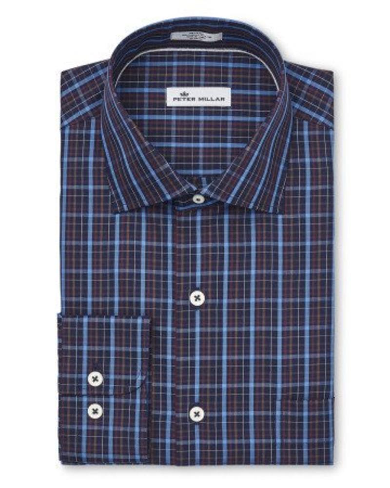 Peter Millar Peter Millar Crown Soft Quarry Falls Plaid Sport Shirt