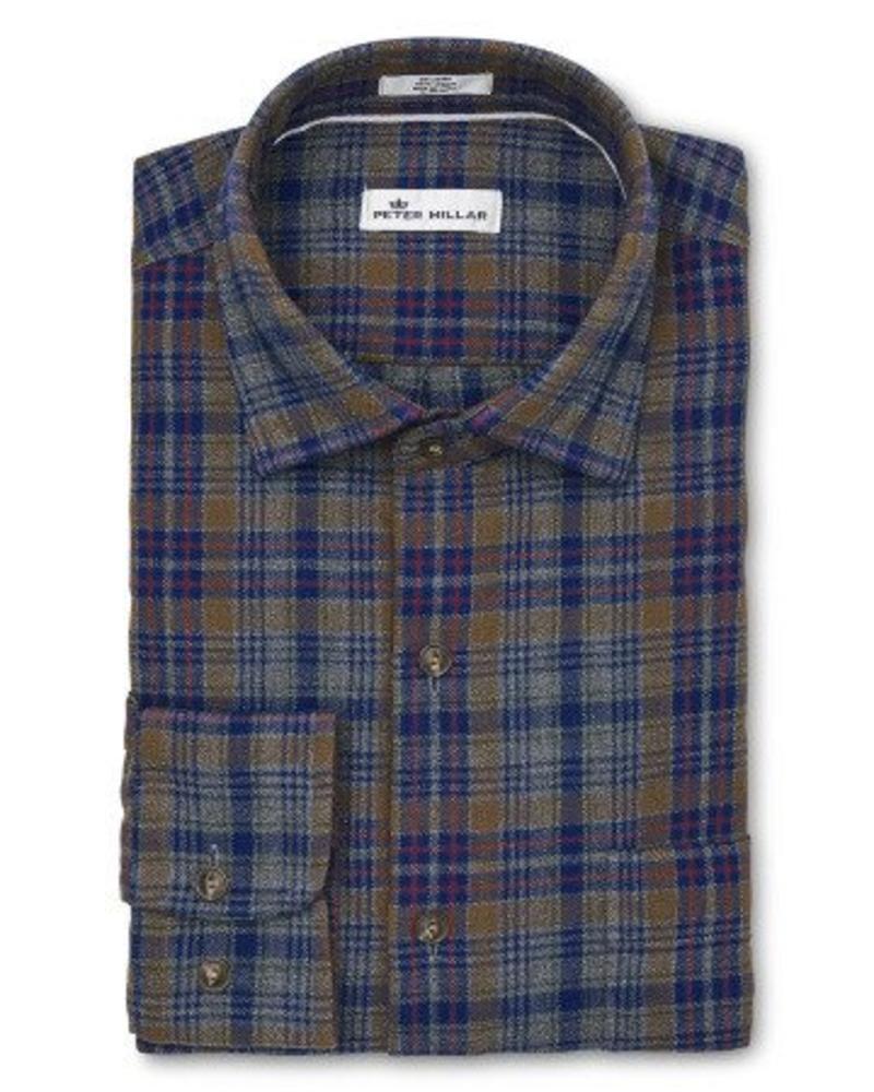 Peter Millar Peter Millar Mountainside Linville Gorge Plaid Sport Shirt - Atlantic Blue
