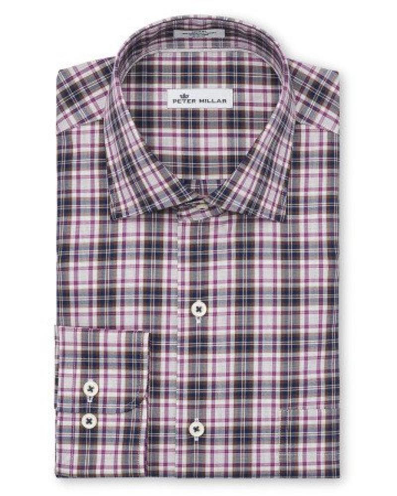 Peter Millar Peter Millar Crown Ease Woodville Plaid Sport Shirt - Yankee Blue