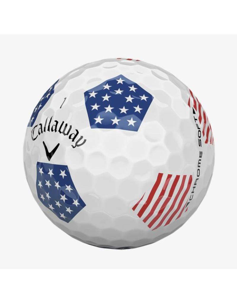 Callaway Callaway Chrome Soft 18 Truvis Stars/Stripes Balls