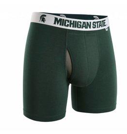 """2UNDR 2UNDR Swing Shift 6"""" Boxer Brief Michigan State"""