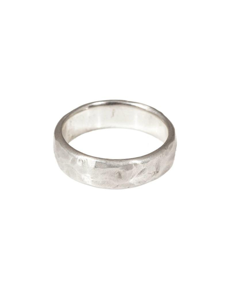 6mm Rough Band in Silver