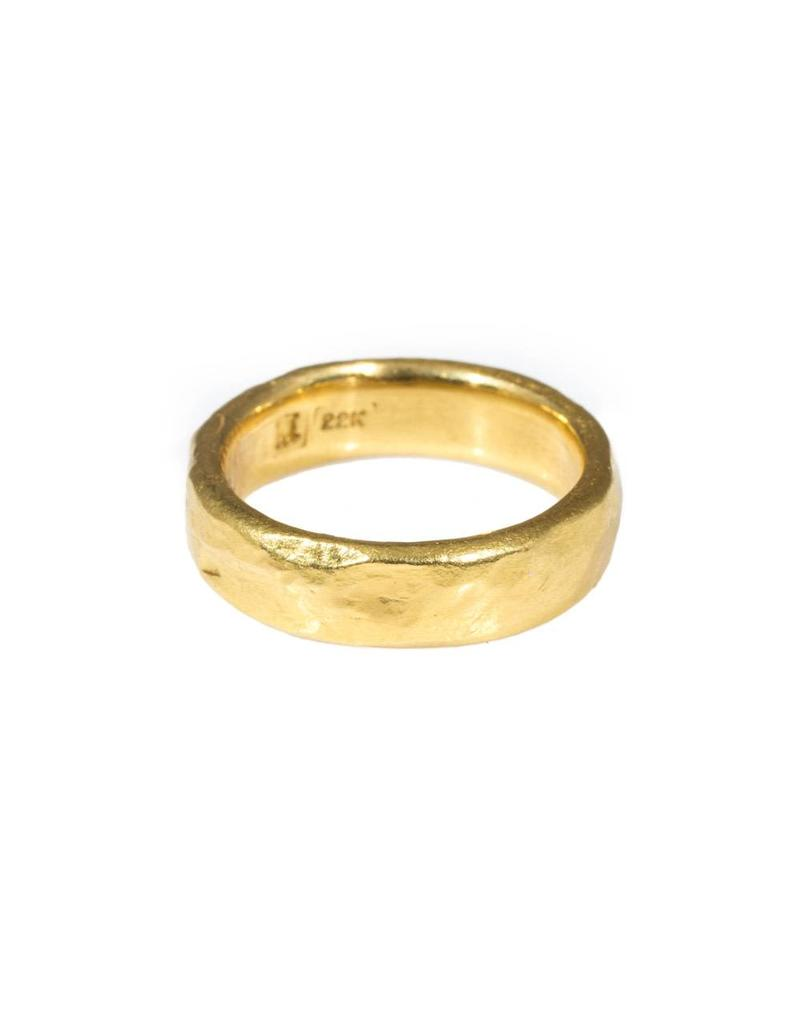 6mm Rough Band 22k Gold