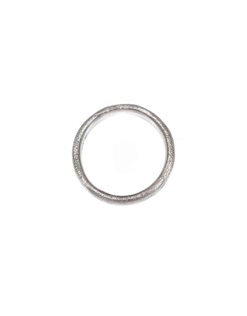 6mm Sand Texture Ring in 14k Palladium White Gold