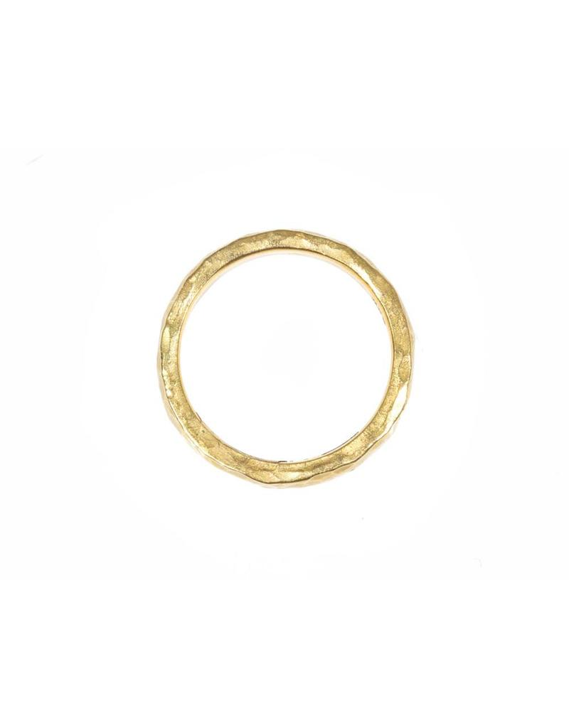 3mm Hammered Band in 22k Gold