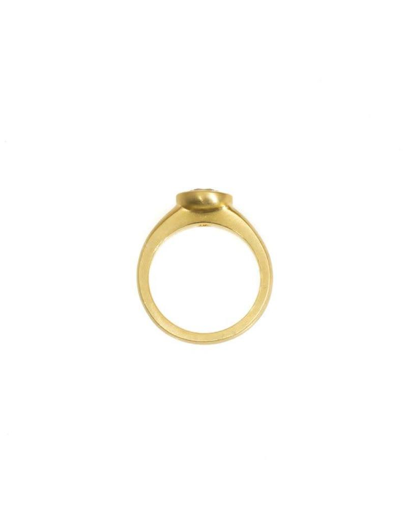 Raised Cup Setting with Brilliant Cup Diamond in 18k Yellow Gold