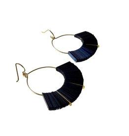 Midnight Arch Hoop Earrings