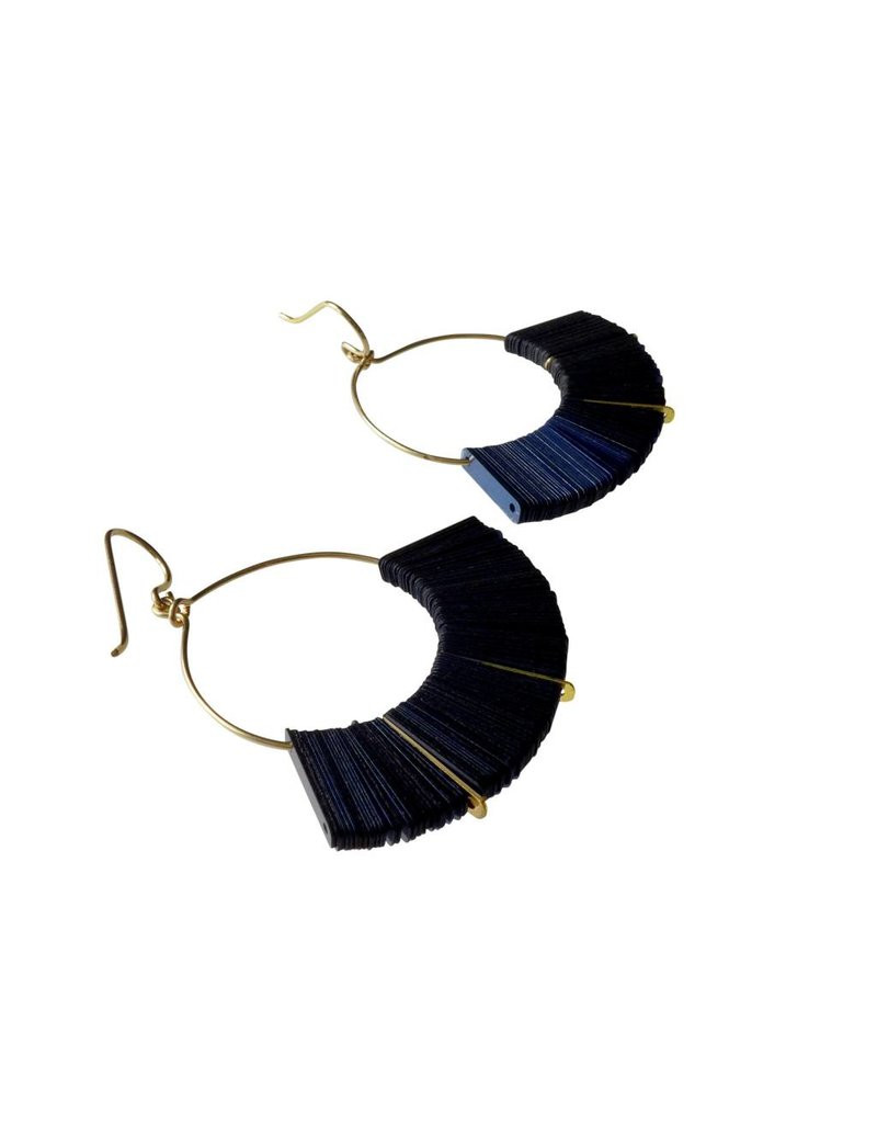 Midnight Arch Hoop Earrings