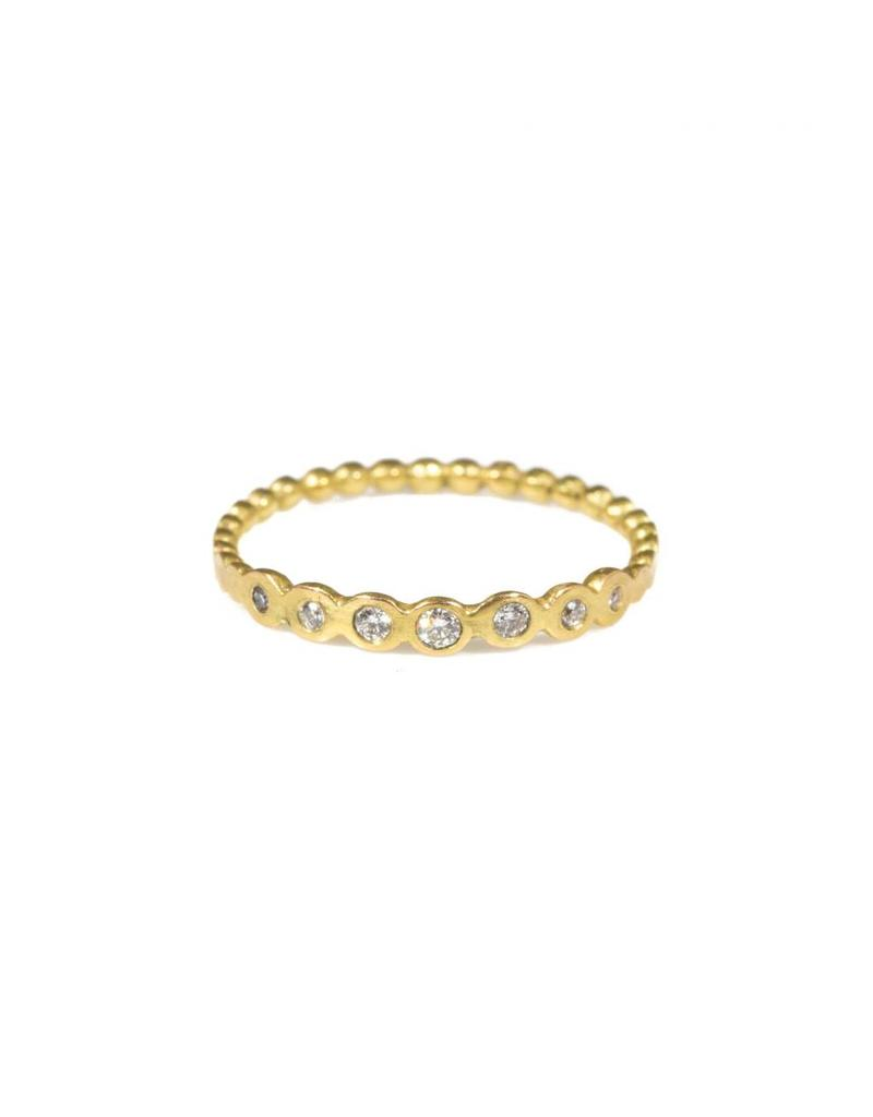 Cascade Ring with Seven Diamonds in 18k Yellow Gold
