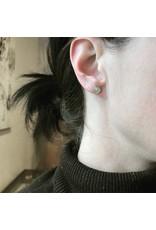 Hex Diamond Post Earrings in 22k Gold