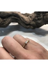 Bezel Set Brilliant Diamond Stack Ring in 18k Yellow Gold