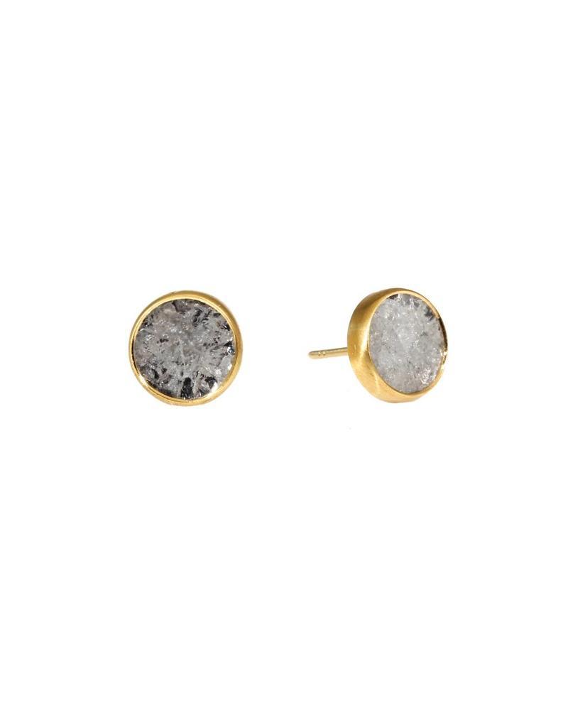 Diamond Slice Earrings in 18k Yellow Gold