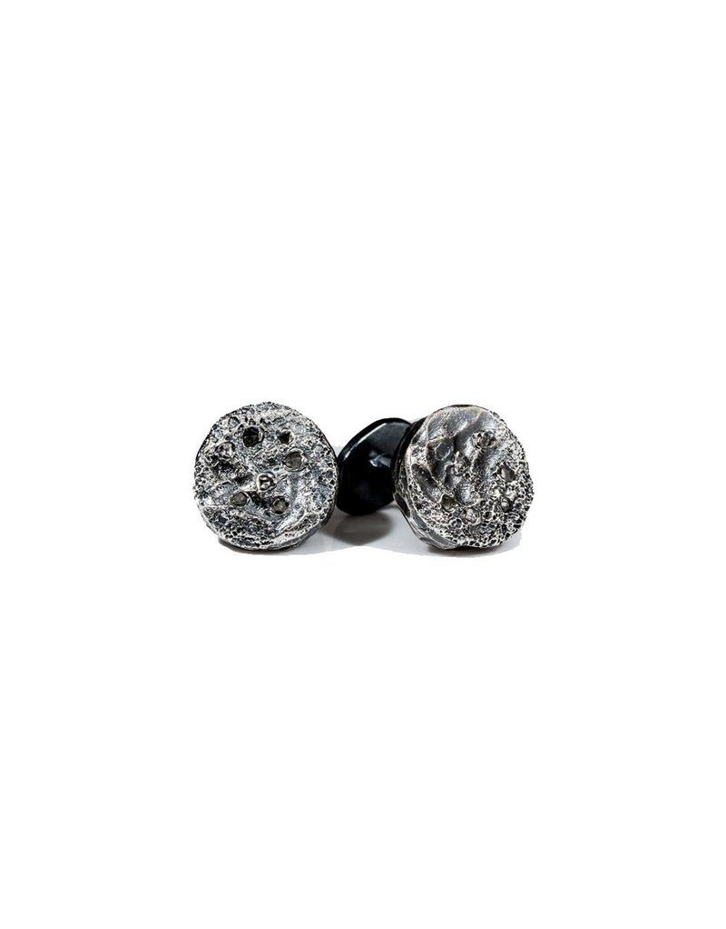 Topography Cufflinks in Oxidized Silver