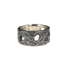 April Higashi 10.5mm Tidepool Ring in Oxidized Silver