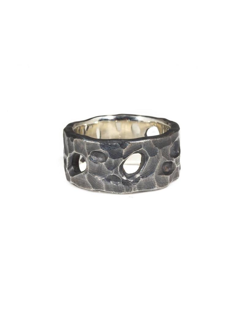 10.5mm Tidepool Ring in Oxidized Silver