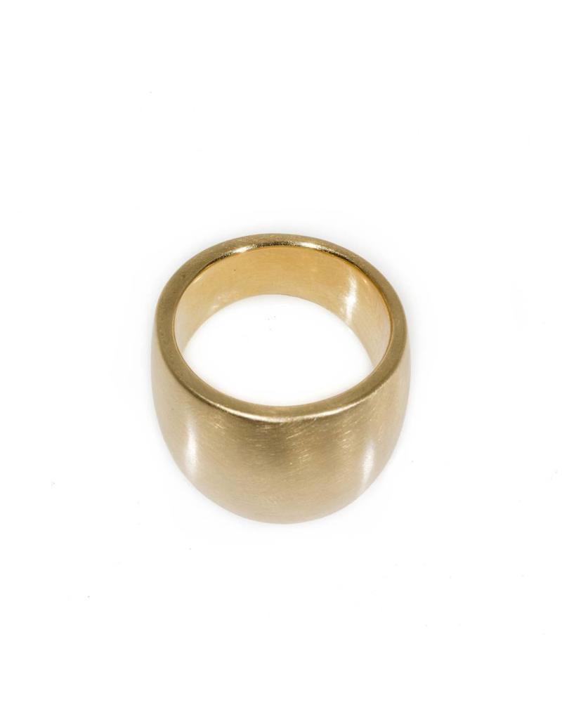 Plain Cuba Round Ring in Yellow Bronze