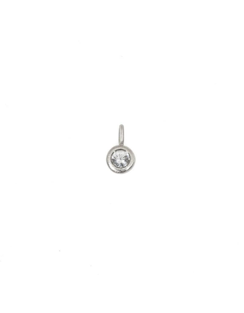 Brilliant Sapphire Pendant in Platinum on a Palladium Chain