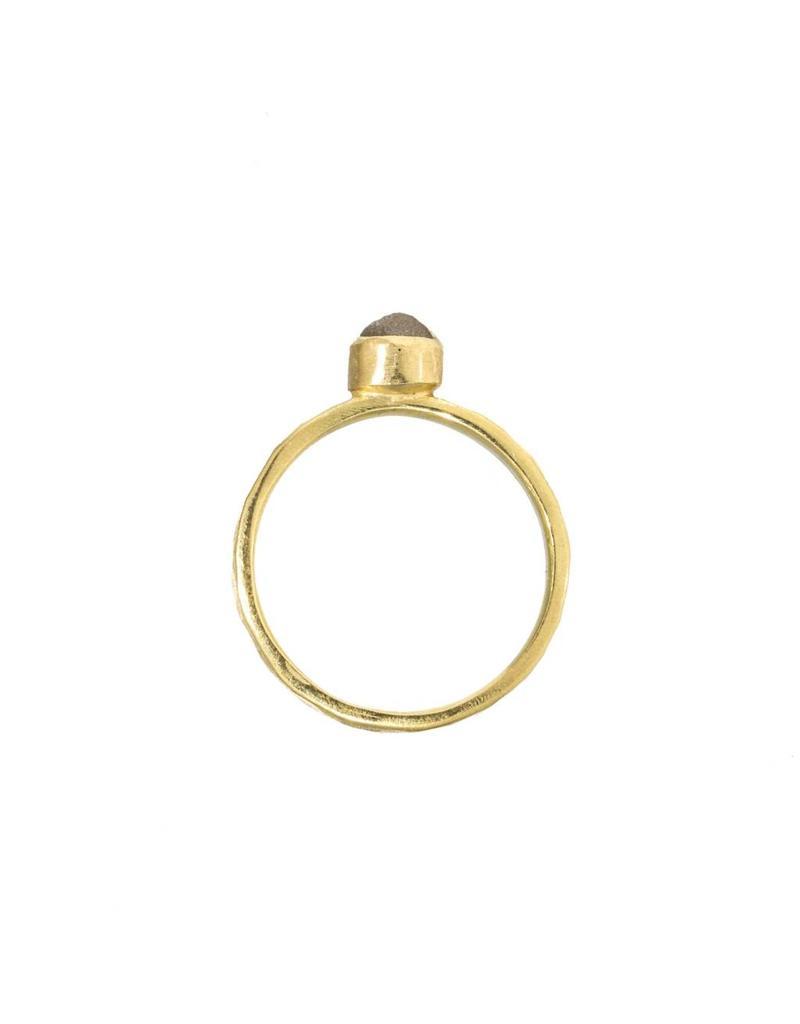 Raw Diamond Ballas Ring in 18k Yellow Gold