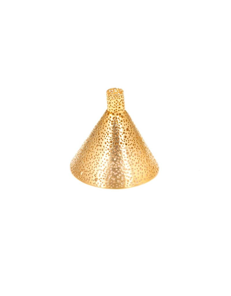 Perforated Funnel in 22k Gold