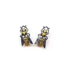 Yellow Jacket Wasp Earrings