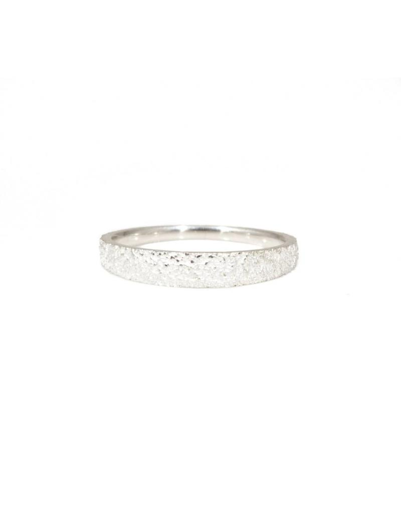 Tapered Sand Band in Silver