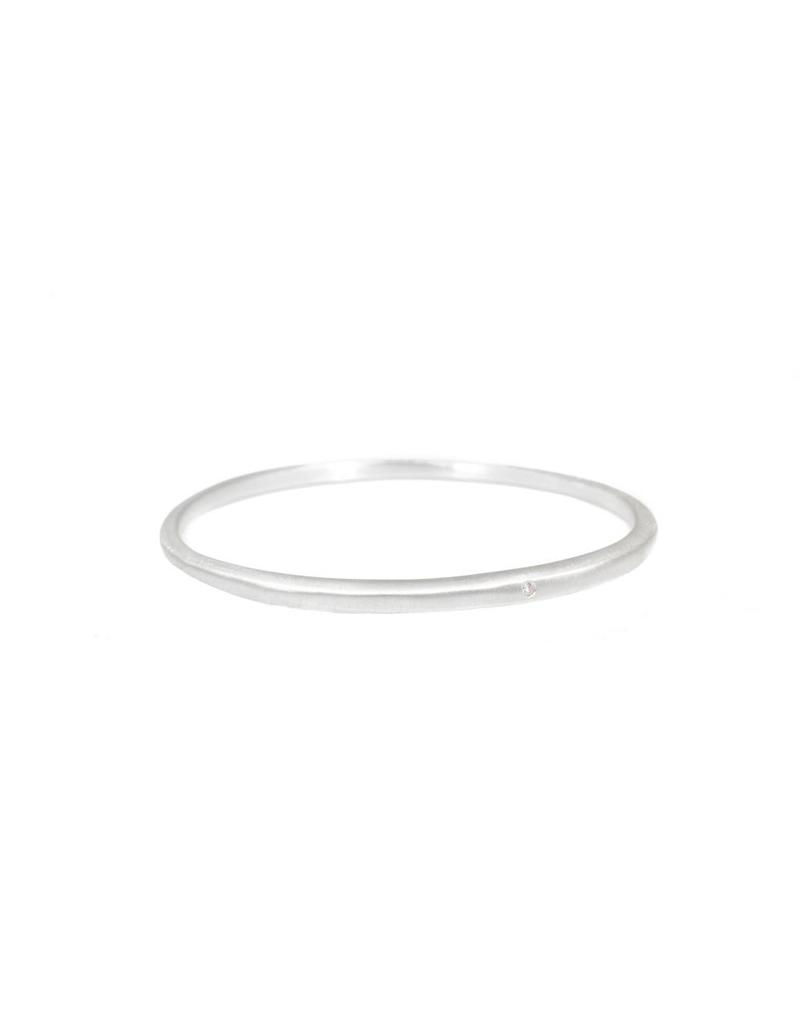Tapered Bangle with 1.8mm White Diamond