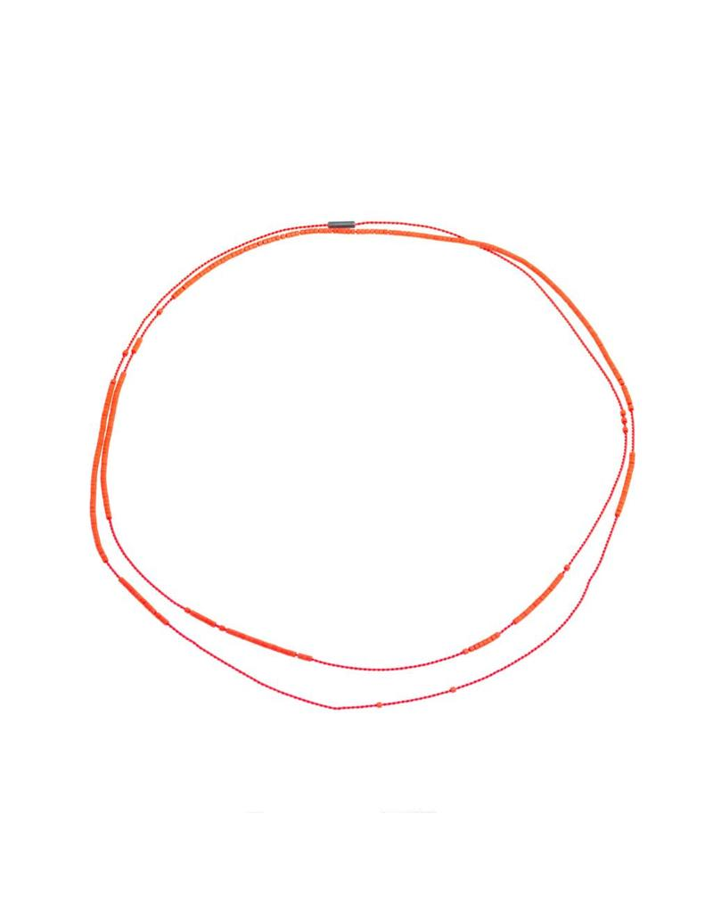 Neela Necklace in Orange and Red