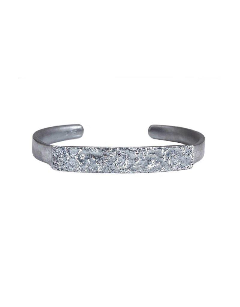 Topography Cuff Bracelet in Oxidized Silver