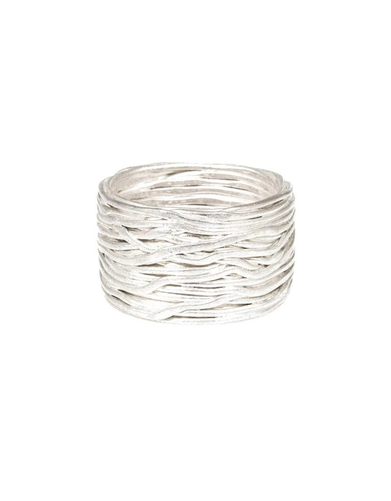 Wire Wrap Ring in Fine Silver