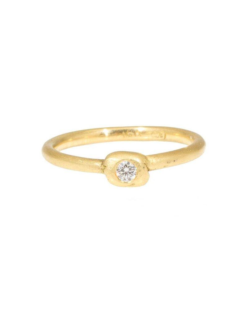 Diamond Knot Ring in 18k Yellow Gold