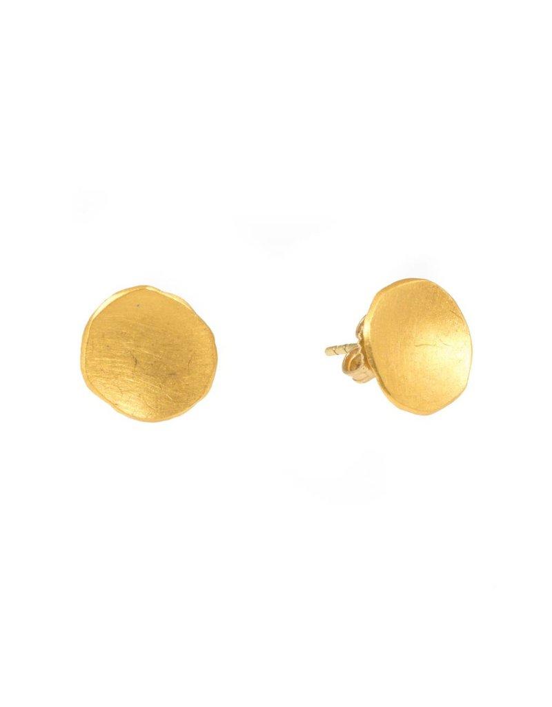 Petal Post Earrings in 24k Gold