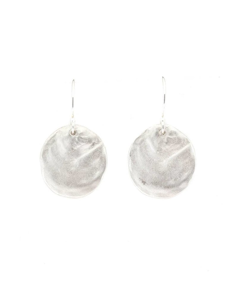 Lady Slippers Earrings Small in Brushed Silver