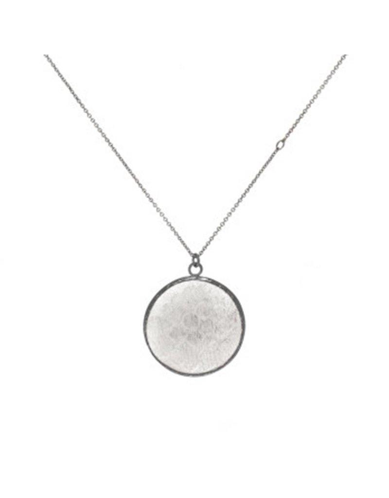 Round Silk Pendant in Silver