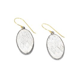Oval Silk Earrings in Silver and 18k Yellow Gold