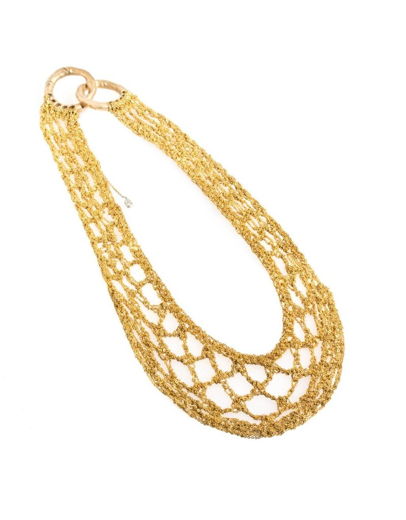 Netted Decollete in 18k Yellow Gold Gold Vermeil