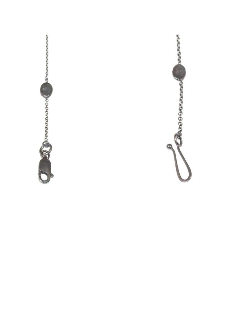 Oxidized Silver Cable Chain