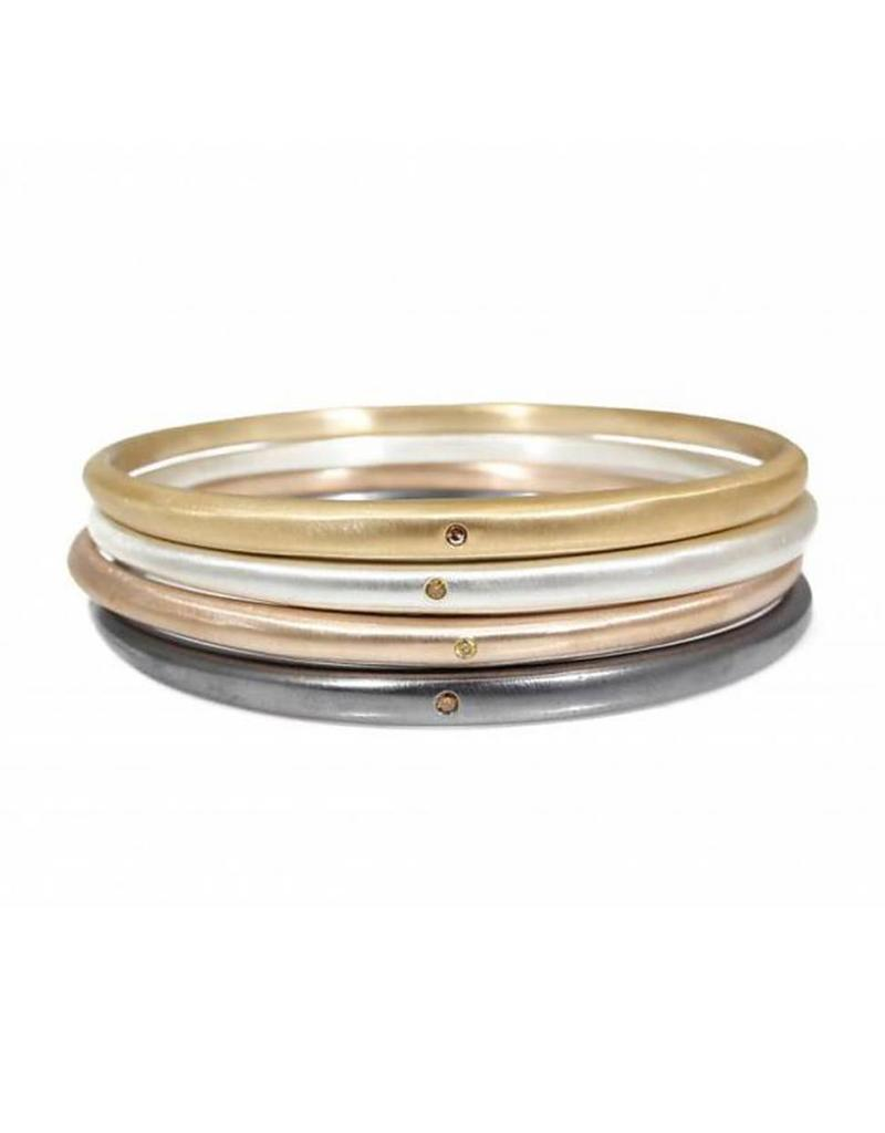 Tapered Bangle with 1.8mm Autumn Diamond