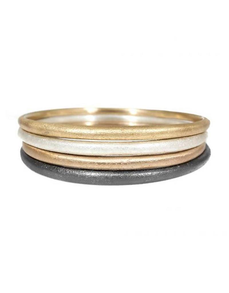 Sand Textured Tapered Bangle Plain