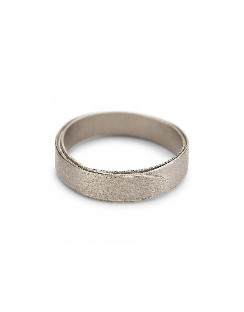 5mm Wrap Band in 18k Warm White Gold
