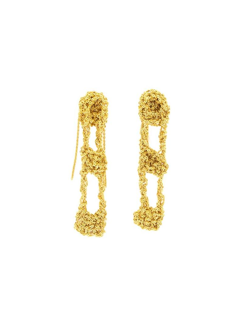 Temperance Earrings in 18k Yellow Gold Vermeil