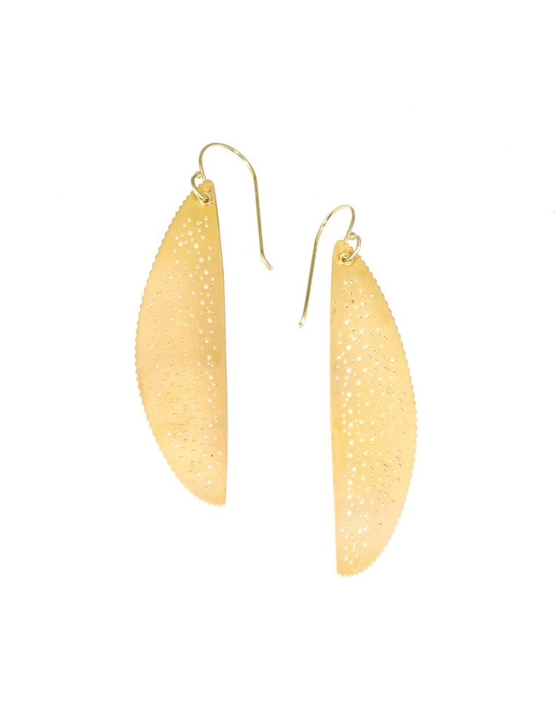 Oval Coin Earrings in 22k and 18k Yellow Gold