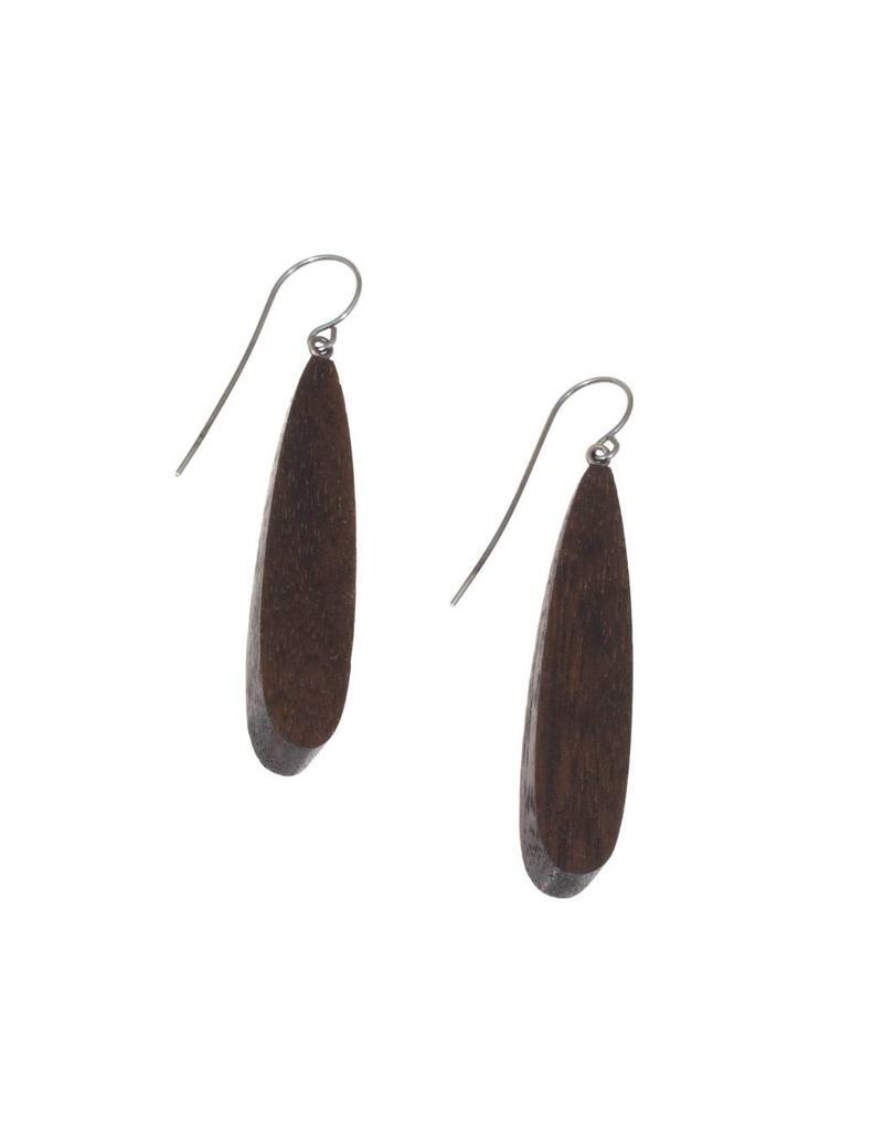 Amanda Earrings in Black Wood
