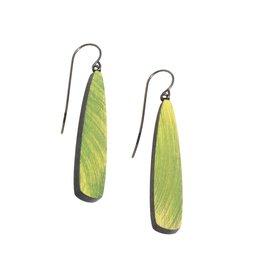 Willow Earrings in Green Wood