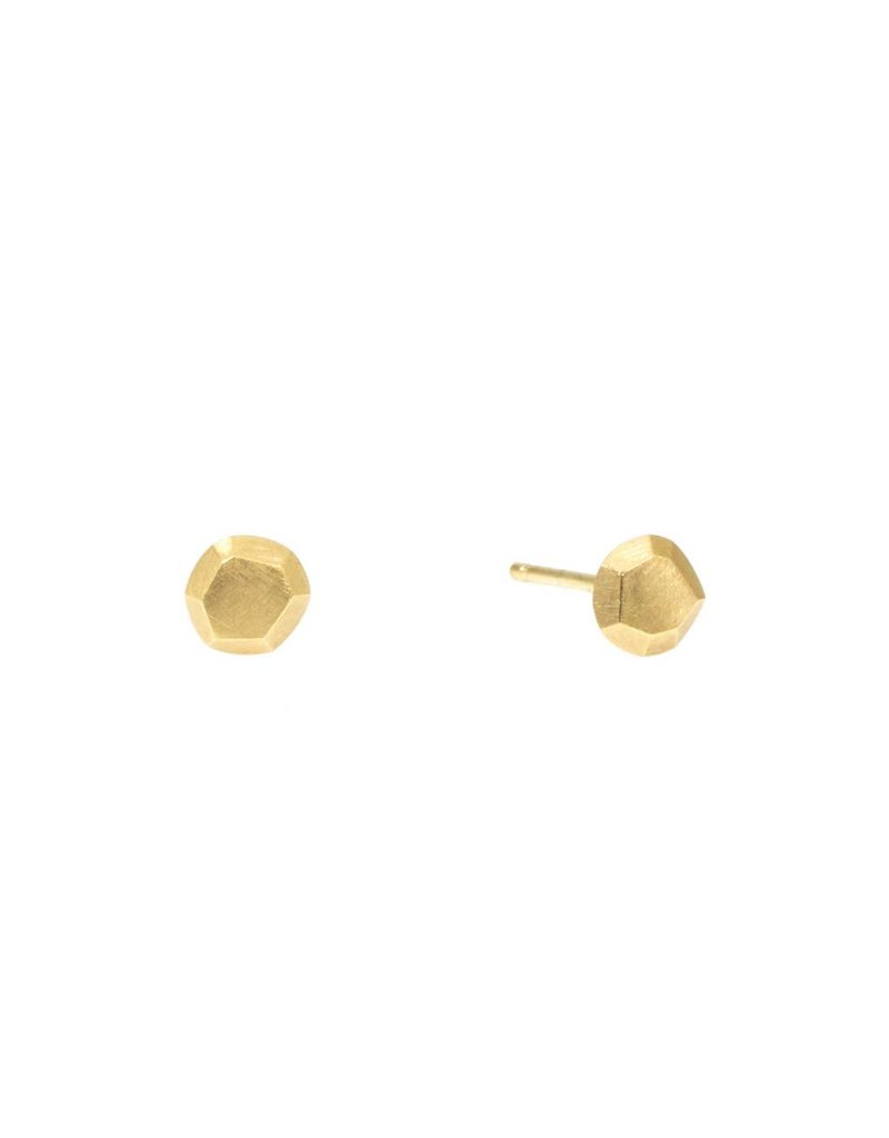 Facet Post Earrings in 18k Yellow Gold