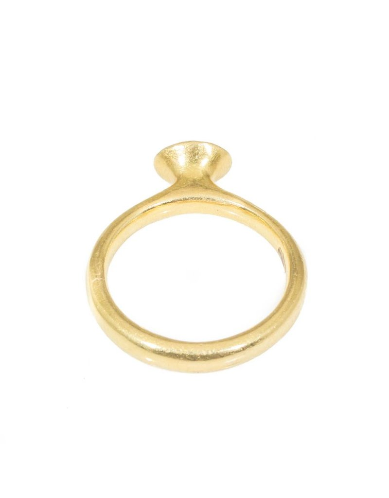 Button Ring in 18k Yellow Gold