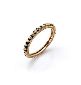 Rapunzel Ring with Black Sapphires in 18k Rose Gold